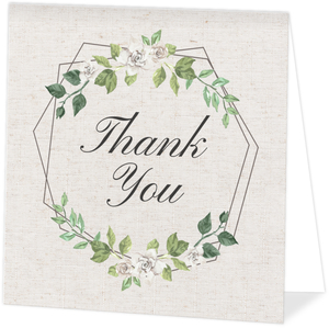 Double Hexagon Frame Memorial Thank You Card
