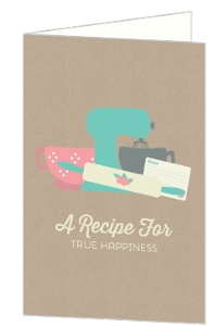 Retro Kitchen Congratulations Card