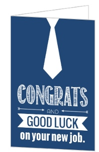Navy Neck Tie New Job Congratulations Card
