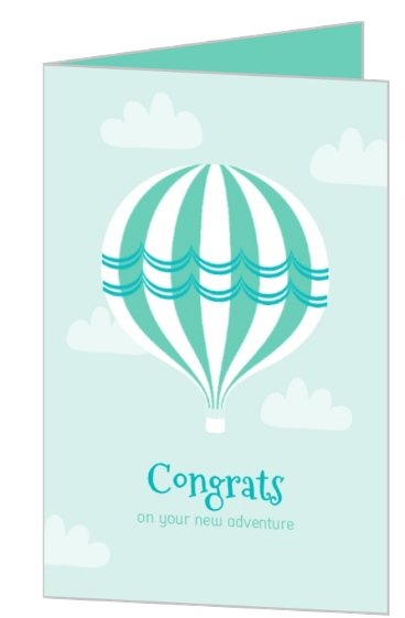 Up Up And Away Couples Baby Shower Congratulations Card