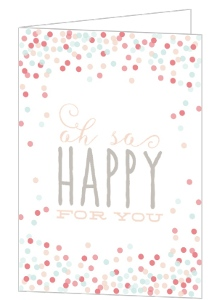 Cute Confetti Bridal Shower Congratulations Card
