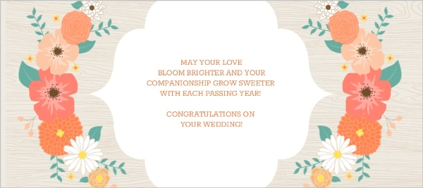 Modern floral arrangement wedding congratulations card greeting cards m4hsunfo