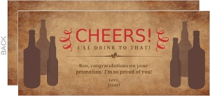 Rustic Cheers Congratulations Card