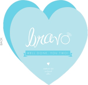 Bravo Wedding Ring Congratulations Card