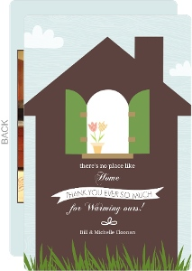 Brown Home Window Sill Housewarming Thank You Card