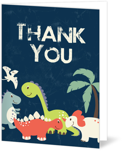 Friendly Dinosaurs Thank You Card