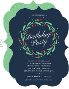 Christmas Birthday Image.Christmas Birthday Invitations Christmas Birthday Party