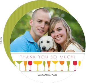 Modern Colorful Drinks Housewarming Thank You Card