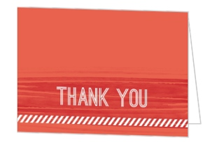 Red Paint Housewarming Thank You Card