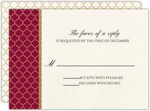 Classic Typography Christmas Wedding Response Card