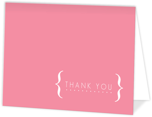 Modern White Brackets Bat Mitzvah Thank You Card