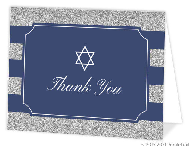 Monogram Thank You Card Thank You Cards Mitzvah Stationery Purple Thank You Note DEPOSIT Modern Monogram Flat Thank You Cards