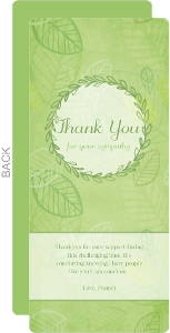 Leafy Green Sympathy Thank You Card