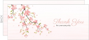 Beautiful Cherry Blossom Sympathy Thank You