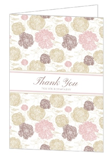 Flowers Birds Sympathy Thank You Card
