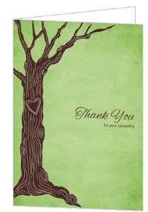 Heart Tree Sympathy Thank You Card