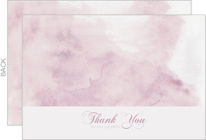 Purple Watercolor Sympathy Thank You