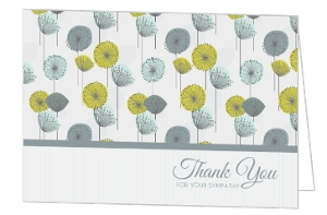 Dandelion Floral Pattern Sympathy Thank You Card
