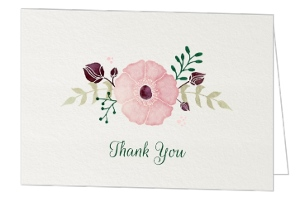 Watercolor Rustic Floral Thank You