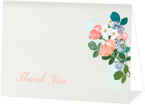 Elegant Floral Funeral Thank You Card