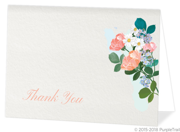 Elegant Floral Funeral Thank You Card Funeral Thank You Cards