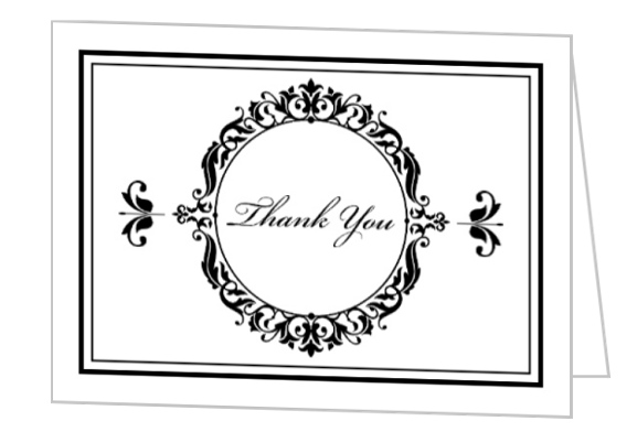 Elegant Business Thank You Card   Personalized Thank You Cards