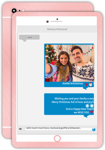 Smartphone Selfie Message Holiday Photo Card