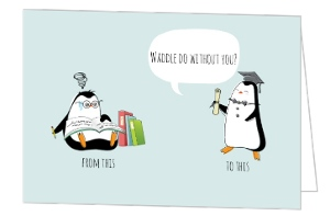 Penguin Student Thank You Card