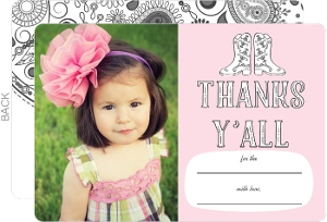 Saddle Up Color In Thank You Card