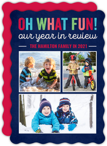 Oh What Fun Year in Review Holiday Photo Card