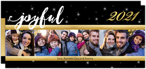 Joyful Night Stars Year In Review Holiday Card