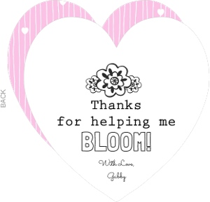 Heartfelt Flower Color In Thank You Card