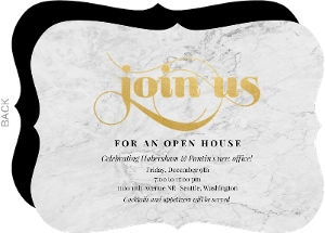 Classic Marble Pattern Corporate Open House Invitation