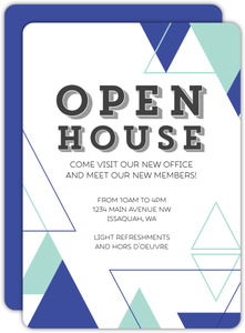 Abstract Triangles Business Open House Invitation