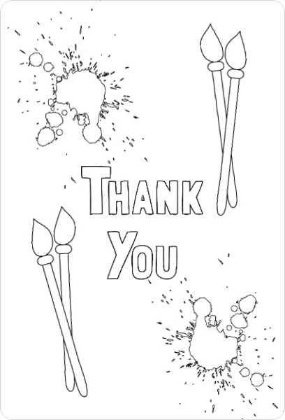 It is a graphic of Old Fashioned Coloring Thank You Cards
