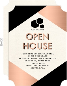 Modern Copper Business Open House Invitation