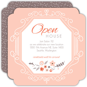 Floral Business Open House Invitation