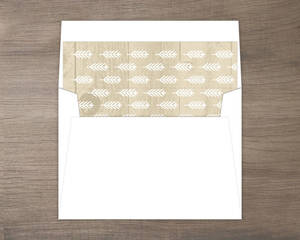 Wood Grain Rustic Envelope Liner