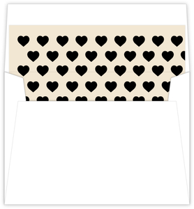 Cream And Black United States Map Envelope Liner