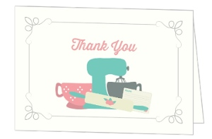 Retro Kitchen Thank You Card
