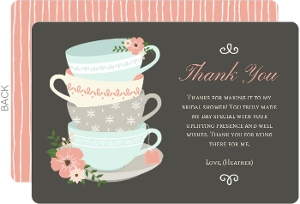 Teacup Bridal Thank You