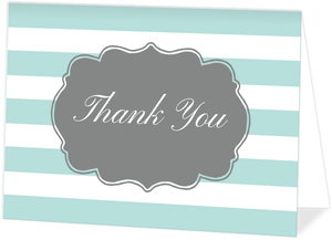 Striped Paris Sweet 16 Thank You Card