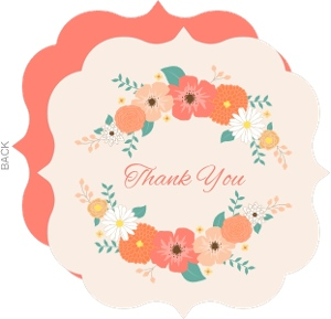 Pale Pink Country Floral Thank You Card