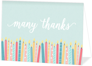 Whimsical Candle Wishes Thank You Card