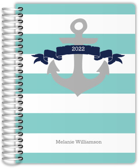 Aqua and Navy Nautical Anchor Mom Planner