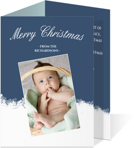 Subtle Snowflakes Christmas Photo Card