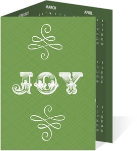 Green Vintage Business Holdiay Card