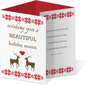 A Beautiful Holiday Quadfold Card
