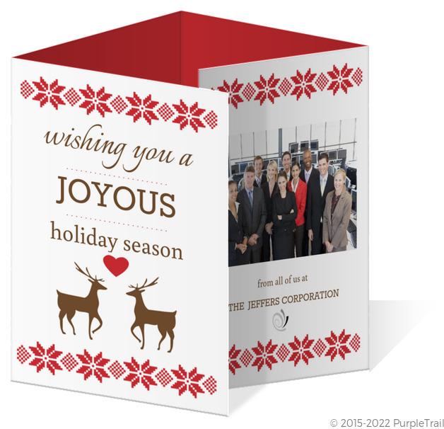 A joyous holiday quadfold calendar card accordion christmas cards a joyous holiday quadfold calendar card m4hsunfo