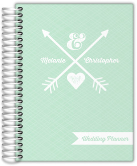 Rustic White Arrows Cool Mint Wedding Planner